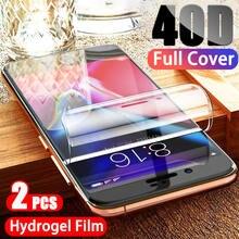2 шт 40d Гидрогелевая пленка для защиты экрана iphone 11 pro