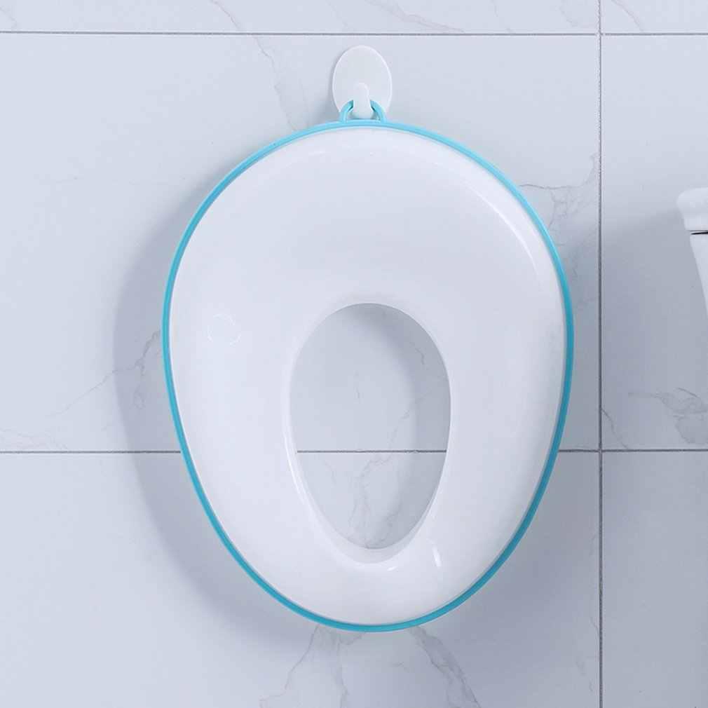 Assento de treinamento do potty do toalete do bebê caçoa o assento seguro do potty ajustes redondos & ovais toaletes antiderrapantes com protetor do respingo almofada infantil do potty