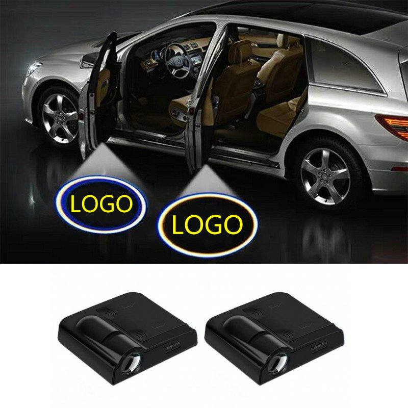 2Pcs Led Car Door Welcome Light Logo Projector Laser Lamp For Honda Civic CRV Jazz Fit Accord Insight Pilot Passport HRV Odyssey