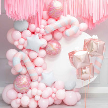 Hot selling pink balloon chain combination birthday party wedding room decoration set balloon decoration party supplies