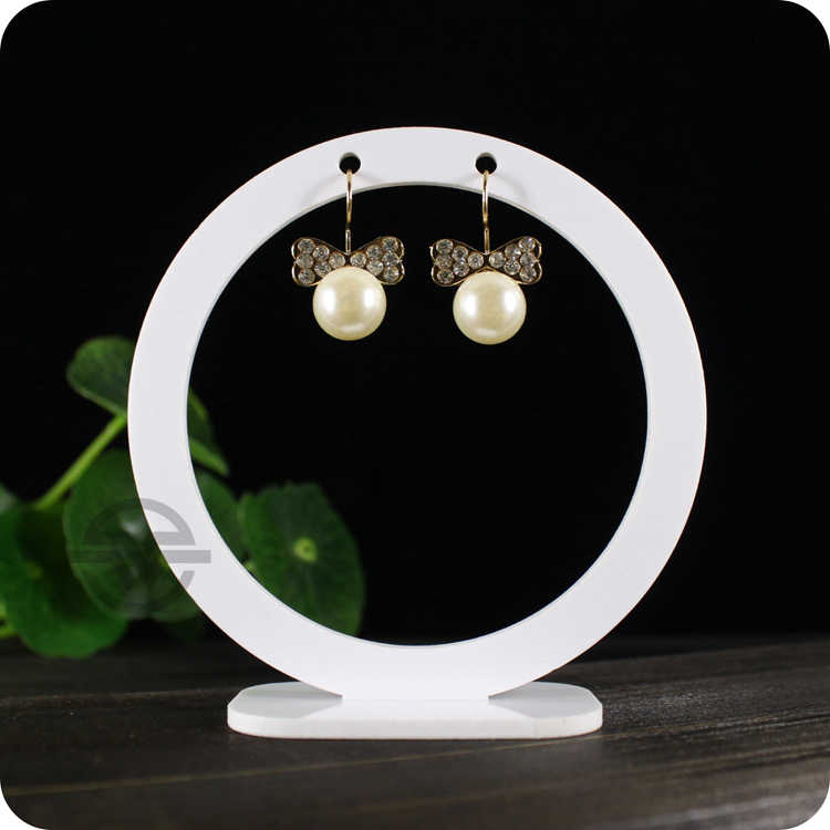 Akrylowy okrągły stojak do kolczyków uchwyt na kolczyk kolczyk stojak na biżuterię kolczyk Stud Organizer Crystal