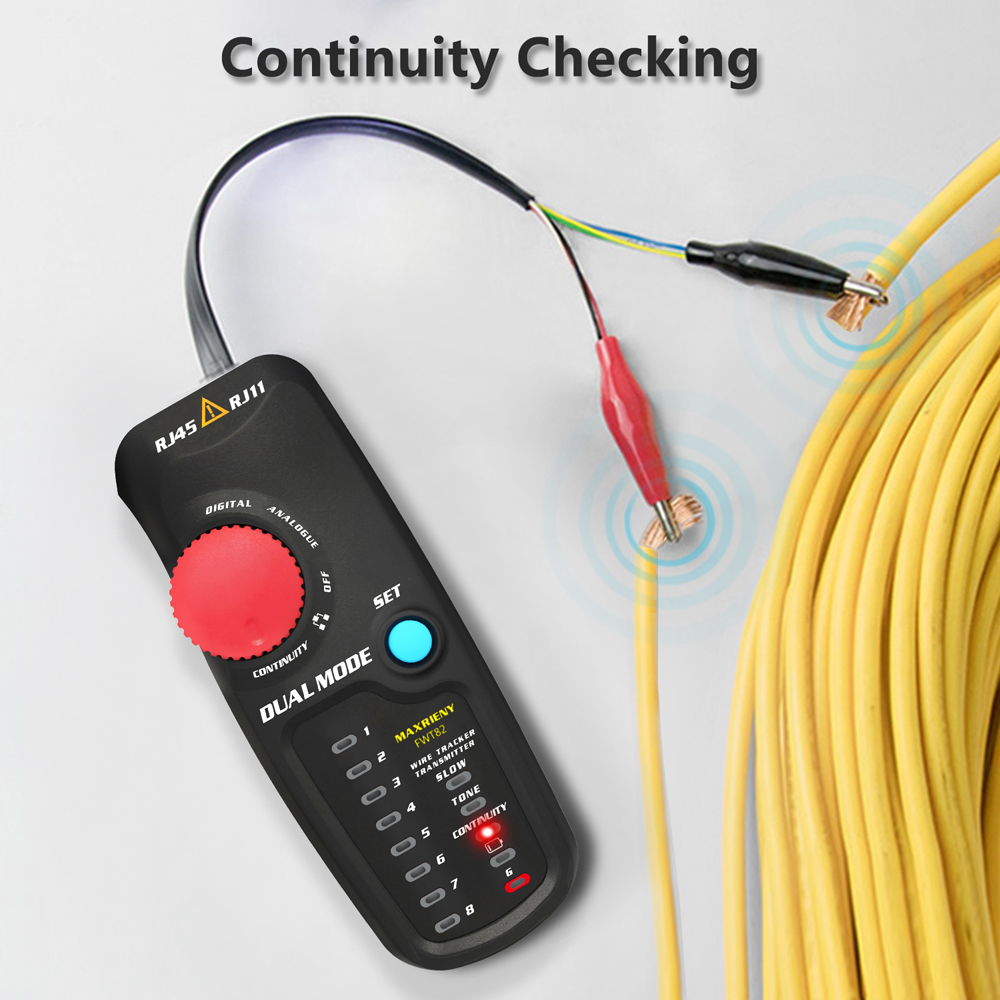 home improvement : MAXRIENY FWT82 Network Cable Tracker Dual Mode Wire Toner RJ45 RJ11 Ethernet LAN Tracer Analyzer Detector Line Finder Tester