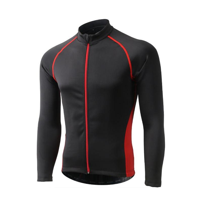 Hiver thermique Sports de plein air veste cyclisme Maillot à manches longues vélo vêtements imperméable coupe vent XINTOWN Maillot vtt vêtements