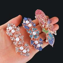 Accessories Jewelry Barrette Hair-Clip Flower-Hair Styling-Tools Rhinestone Crystal Luxury