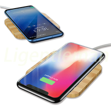 Wireless charger with wooden case For LG V30, V30s ThinQ Mate RS Xiaomi MIX 2S Droid Turbo 2 Nokia Lumia  8Sirocco