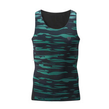 New Mens Gym Running Vest Camouflage Green Tank Top Quick Dry Workout Fitness Sports Training Basketball Bodybuilding 4XL
