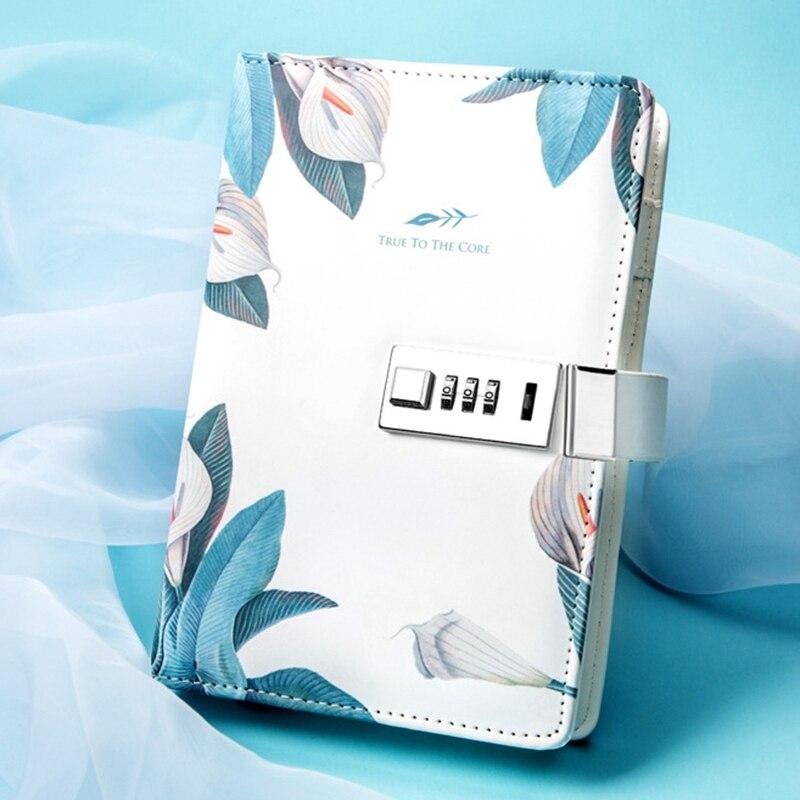 livro de mão bloqueio de senha caderno