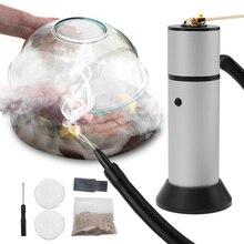 Jedzenie zimny Generator dymu przenośna kuchnia molekularna palenie pistolet mięso palić Smokehouse gotowanie na Grill palacz drewno