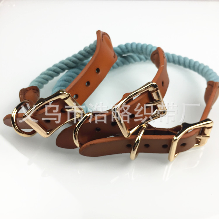 [Hao Slightly Cute Pet] Europe And America New Style Three-ply Color Round Weaving Pet Supplies Dog Neck Ring Jin Circle