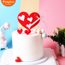 Valentines Day Love Confession Cake Topper Wedding Decoration I You  Happy Birthday Anniversary Party Supplies