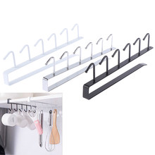 Iron Kitchen Bathroom Organizer Storage Shelf Multi-functional Cupboard Hanging Hook Shelves For Towel Chest Cup Drainer Holder(China)