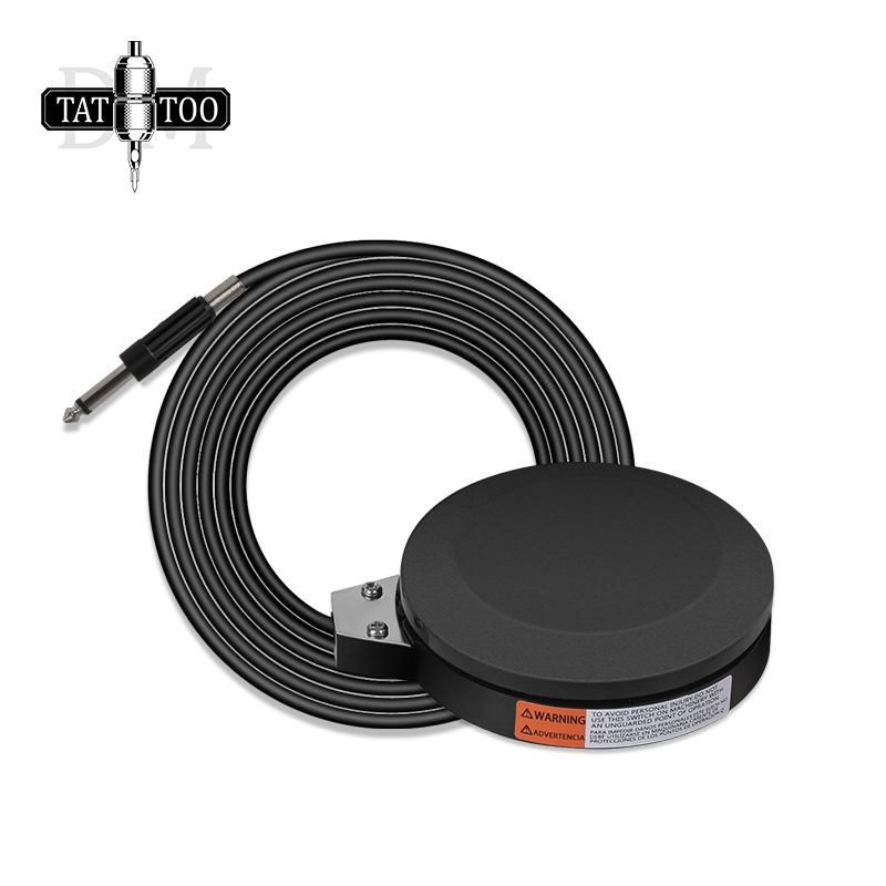 Professional 360 Degre Tattoo Foot Pedal With 1.5M Power Cord Black Round Tattoo Foot Switch For Tattoo Power Supply Machine