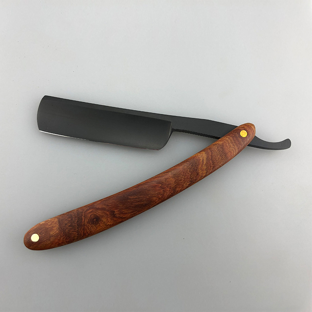 Red Sour Skill Wooden Handle Razor Hairdressing Knife Retro Razor Hair Knife Repair Face G1106 1