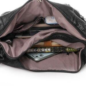 Image 5 - Sıcak deri lüks çanta kadın çanta tasarımcısı çok fonksiyonlu omuz çantaları kadınlar için 2020 seyahat sırt çantası Mochila Feminina Sac