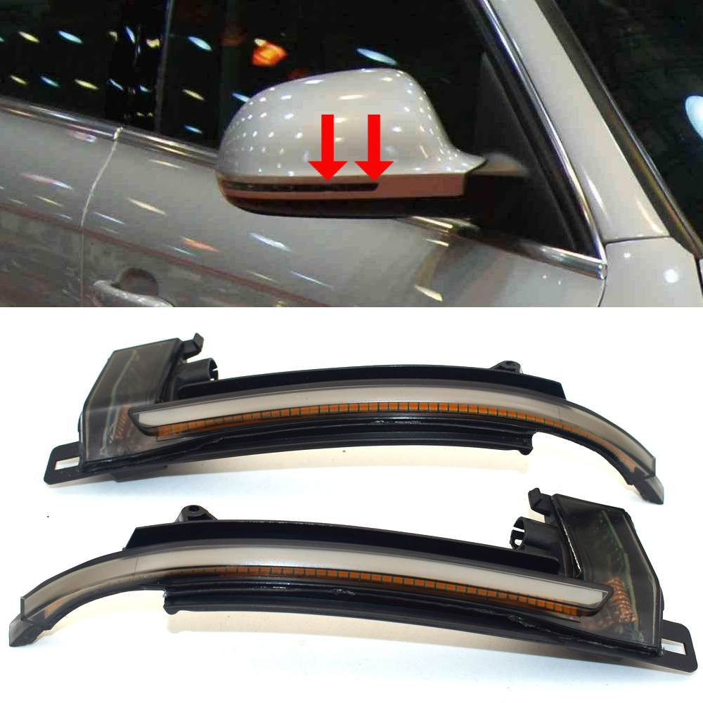XIANGXIXING Dynamic Blinker Mirror Light for <font><b>Audi</b></font> A3 8P A4 A5 B8 Q3 <font><b>A6</b></font> C6 4F S6 <font><b>LED</b></font> Turn Signal Side Indicator SQ3 A8 D3 8K image