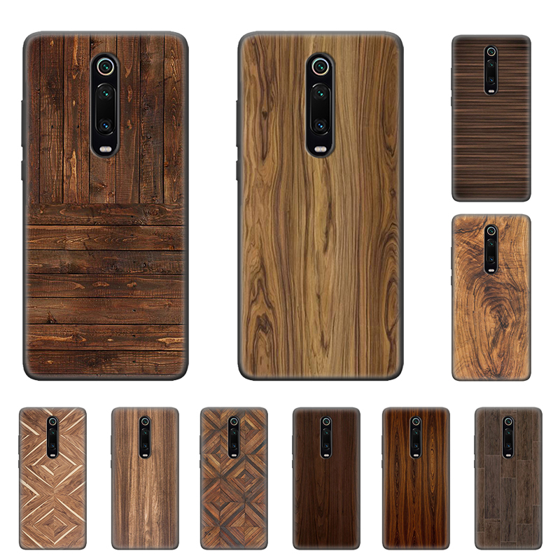 Case For Redmi Note 9 Pro 9S 9 9A 9C Note 8 8T 7 K20 K30 Pro 8 8A 7 7A 6A Soft Phone Shockproof Shell Pattern Wood Textures