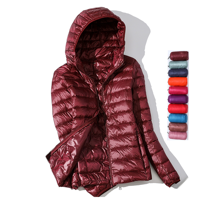 Ultra Light Down Jacket 2019 New Parkas Basic Winter Jackets Female Women Velvet Hooded Coats Autumn Down Jacket Womens Outwear