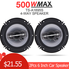2pc 6 Inch Car Loundspeaker 16cm 500W 4 Way Coaxial Speaker Auto Music Stereo Full Range Frequency Hifi for