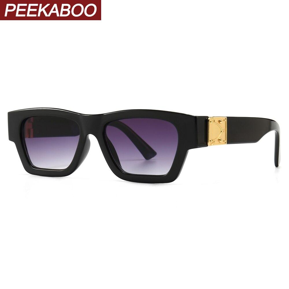 Peekaboo Retro Women Sunglasses Square Male 2020 Summer Accessories Gift Ladies Sun Glasses For Men Black White Gradient