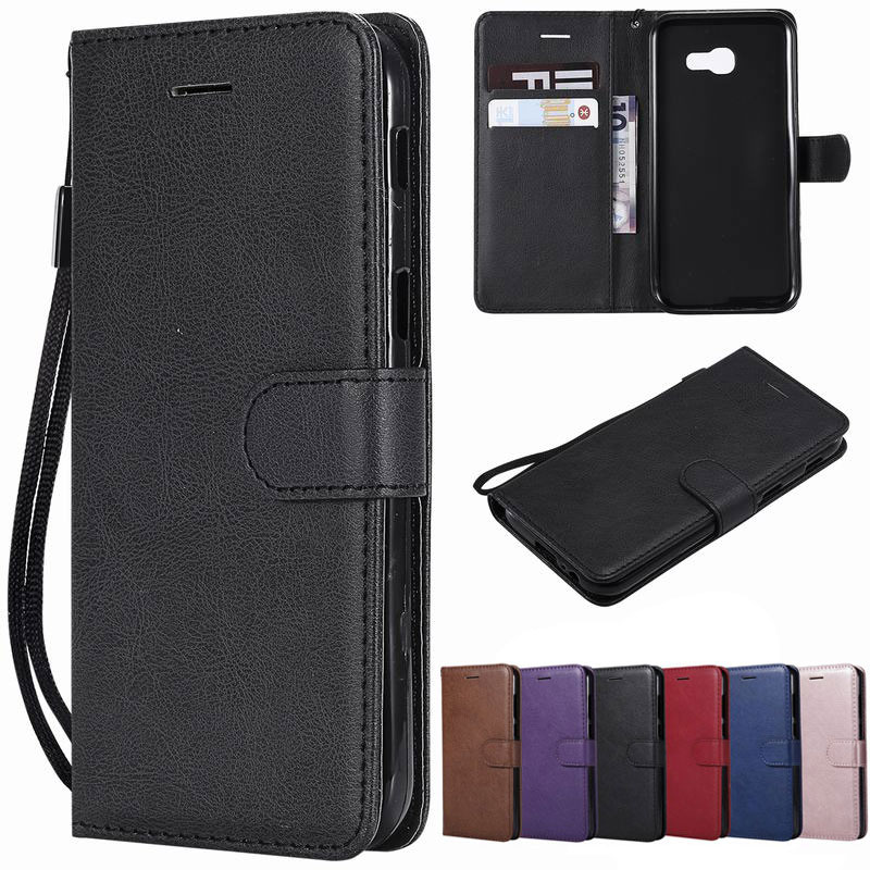 Leather Case For Phone <font><b>Samsung</b></font> Galaxy <font><b>A3</b></font> <font><b>2016</b></font> Case For <font><b>Samsung</b></font> A5 2017 Cover Luxury Wallet Flip Coque <font><b>Etui</b></font> image