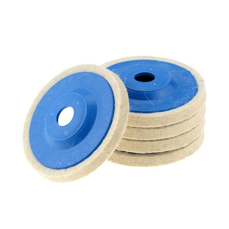 1PC 4 Inch 100mm Wool Polishing Wheel Buffing Pads Angle Grinder Wheel Felt Polishing Disc For Metal Marble Glass Ceramics