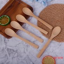 1/5Pcs Bamboo Jam Spoon Ecofriendly Tableware Bamboo Scoop Coffee Honey Tea Spoon Stirrer Baby Honey Spoon Coffee Spoon