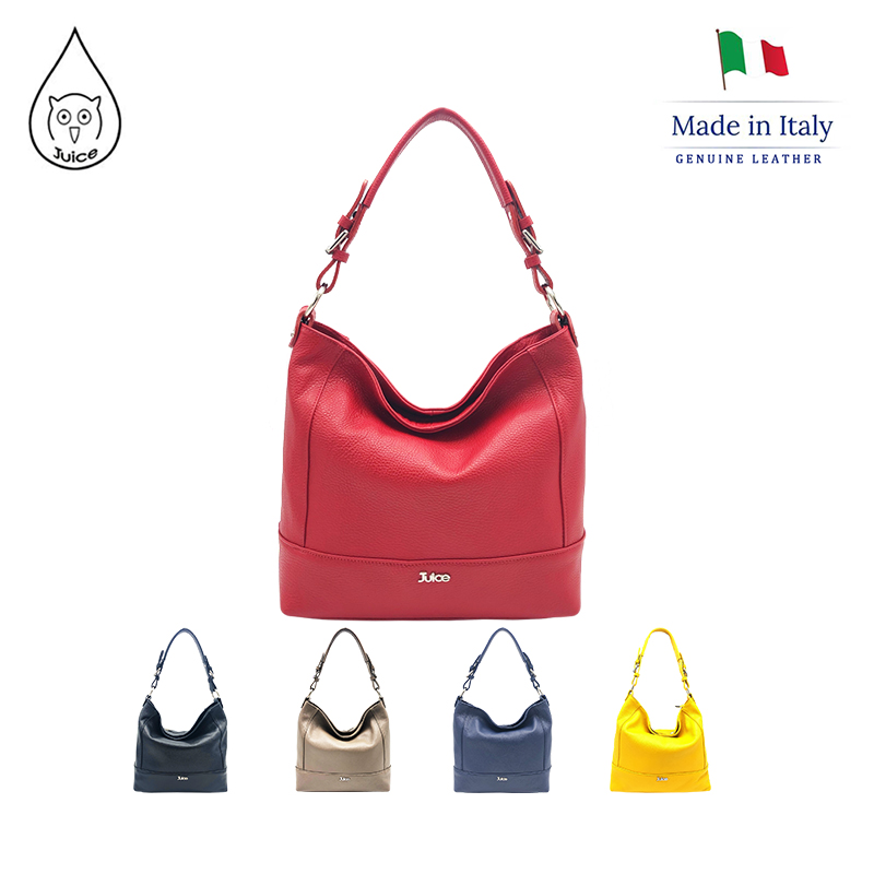 JUICE ,made In Italy, Genuine Leather, Women Bag,Shoulder Bags, Dollaro Leather Soft Leather 112033