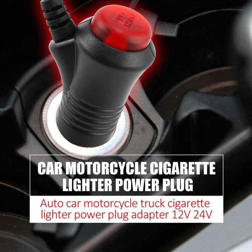 Новый 12 в 24 в мужской Авто Автомобиль Мотоцикл Прикуриватель разъем на выключатель 1,5 м универсальный разъем Переключатель