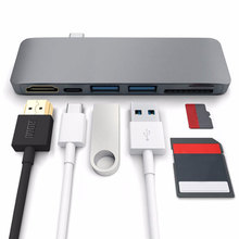 Easya Thunderbolt 3 Adapter Type C Naar Hdmi Hub Voor Samsung Dex Station USB C Dock Met Pd Sd/Tf kaartlezer Usb 3.0 Poort