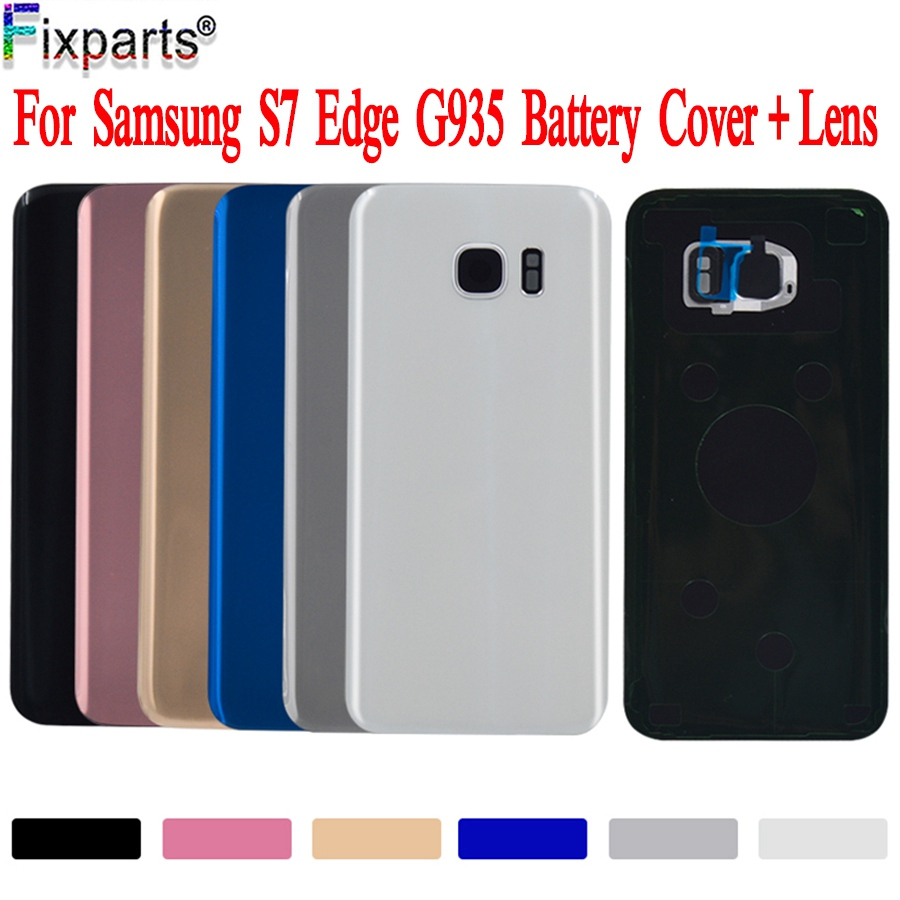 For SAMSUNG Galaxy S7 Edge G935F Back Battery Cover With Camera Lens Door Rear Glass Housing Case For SAMSUNG Galaxy S7Edge image