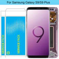 Oryginalny S9 LCD do samsunga Galaxy S9 Plus ekran LCD z ramką AMOLED S9 G960F LCD S9 Plus G965F zespół ekranu dotykowego