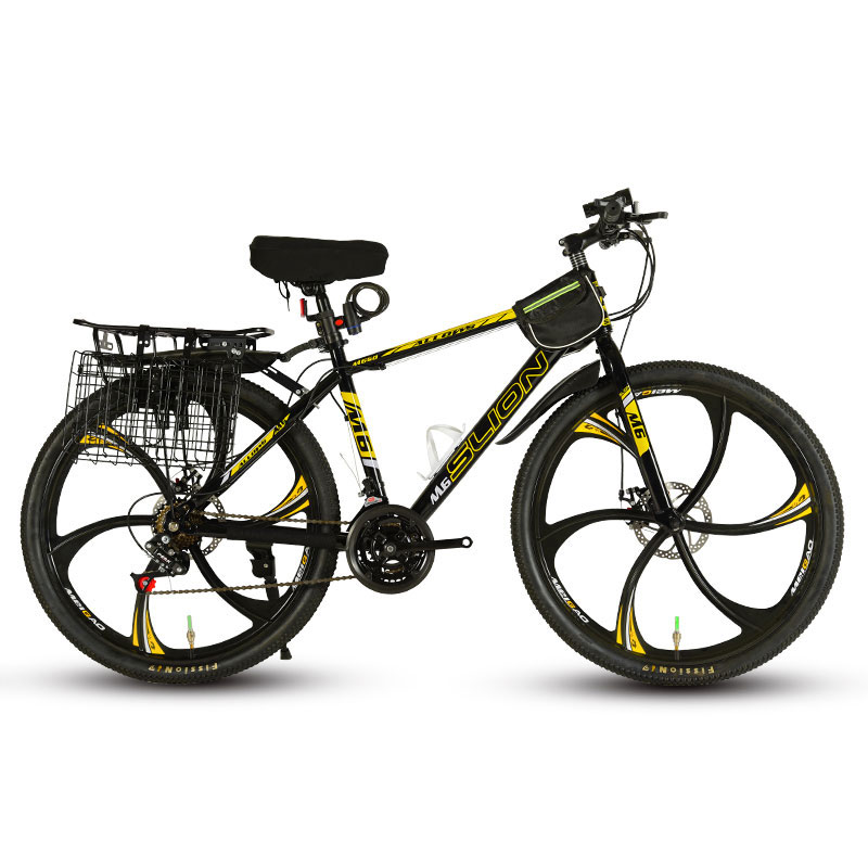 26 Inch Mountain Bike Variable Speed Shock Absorption Double Disc Brakes Off-road Racing Student Adult