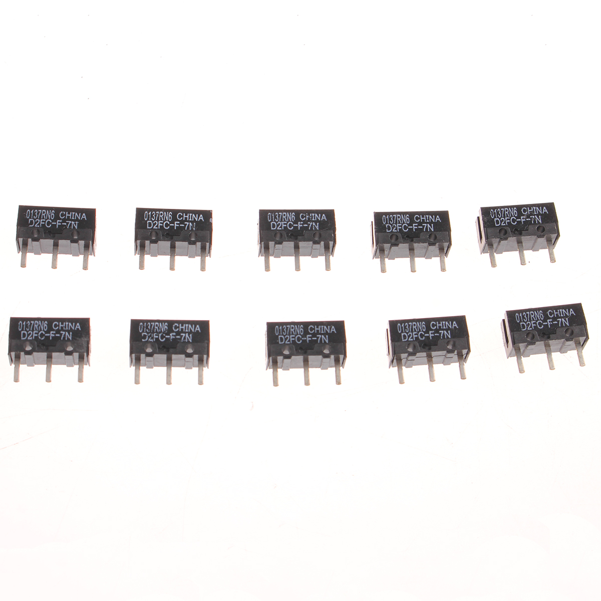 10M for Logitech Microsoft Button 5Pcs Omron Mouse Micro Switch D2FC-F-7N