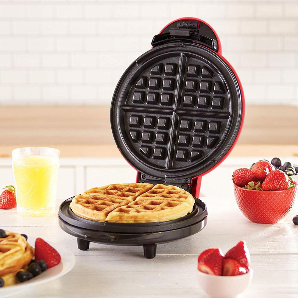 Adoolla 350W Mini Make Waffle Non-stick Electric Griddle Baking Pan Cake Machine Kitchen Cooking Tools