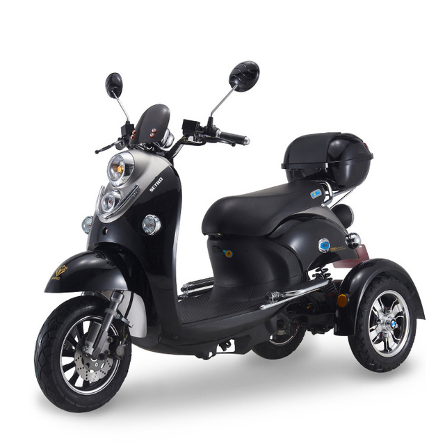 Adult Vespa Tricycle Fat Tire Electric citycoco Scooter With Seat Kcq Electric Scooter Electric 3 Wheels Motorcycle Road 2021 1