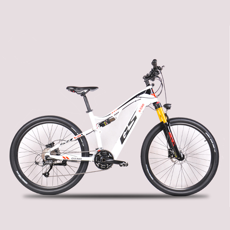 Permalink to 27.5 inch electric soft tail off-road bike 48V17AH hidden lithium battery electric mountain bike air  shock 27 speed EMTB