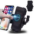 Мотоциклетный держатель для телефона Qi Быстрое беспроводное зарядное устройство мотоциклетное зарядное устройство крепление для телефон...