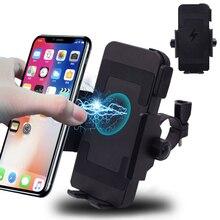 دراجة نارية حامل هاتف شاحن لاسلكي سريع دراجة نارية رف شاحن للهواتف دعم الهاتف موتو GPS ل هاتف ذكي