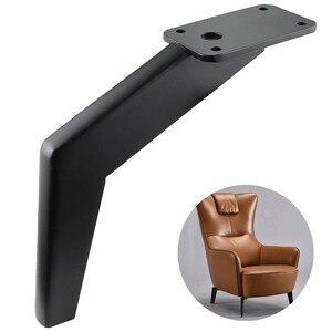 Image 1 - 4Pcs Buigen Metalen Meubelen Benen Vierkante Kast Houten Tafel Benen Voor Sofa Voeten Voet Bed Riser Meubels Accessoires