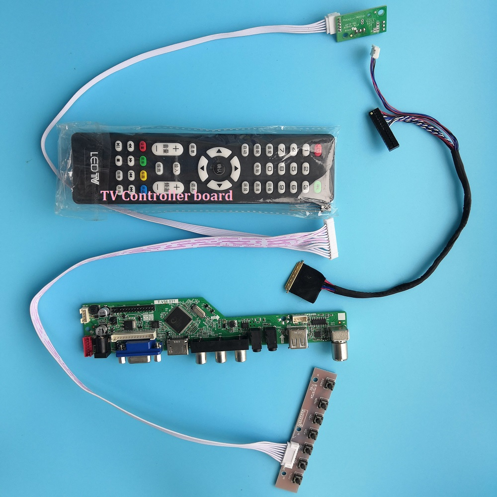 "Где купить Набор для LP140WH4 (TL) (A1)/LP140WH4 (TL) (C1) плата контроллера 1366X768 USB HDMI 14 ""40pin LCD LED TV AV VGA Удаленная панель экрана DIY"