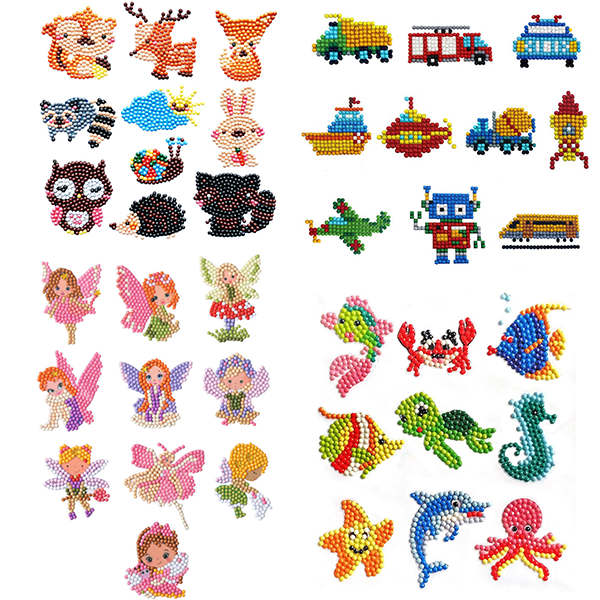 Kids DIY Cartoon Diamond Paintings Free Stickers Special Shaped Embroidery For Children Handmade Making Play Toys