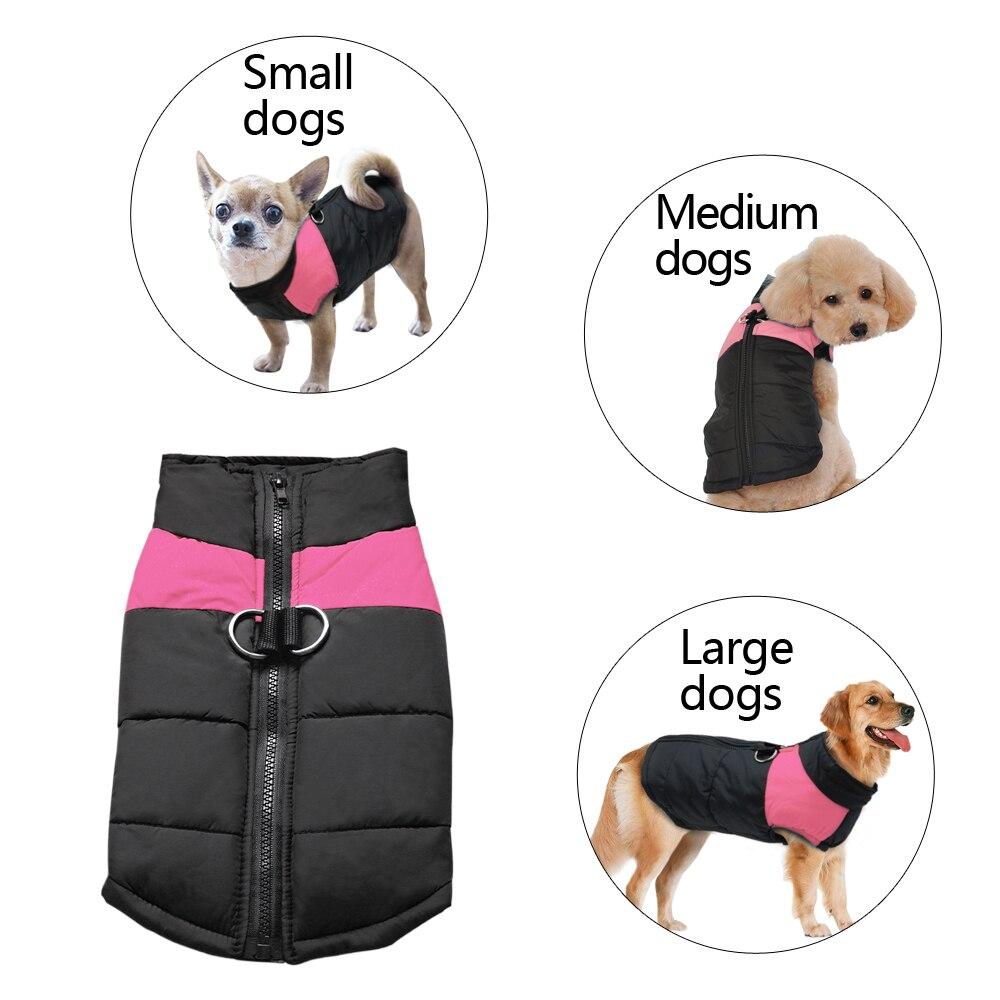 Жилет для больших собак водонепроницаемый, теплая зимняя куртка, одежда для маленьких и больших собак, пальто для щенков, Мопсов, одежда для домашних животных 4XL, 5XL-3