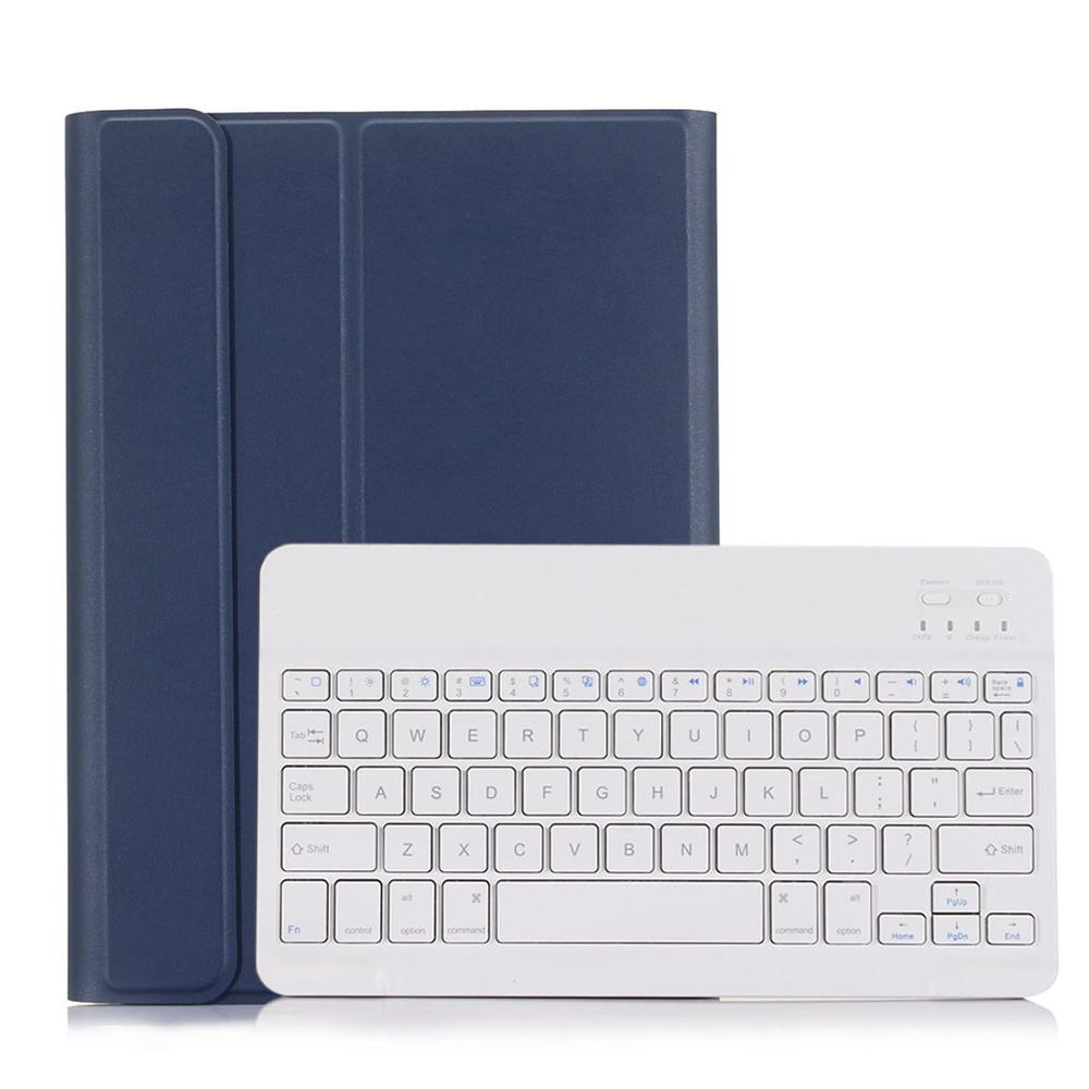 Blue with White Green 3 0 Bluetooth Keyboard Case for iPad 10 2 Case for Apple iPad 7th Generation A2200
