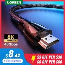 Ugreen cavo HDMI 2.1 8K/60Hz 4K/120Hz per Xiaomi Mi Box cavo HDMI2.1 48Gbps HDR10 HDCP2.2 per PS4 HDMI Splitter 8K cavo HDMI