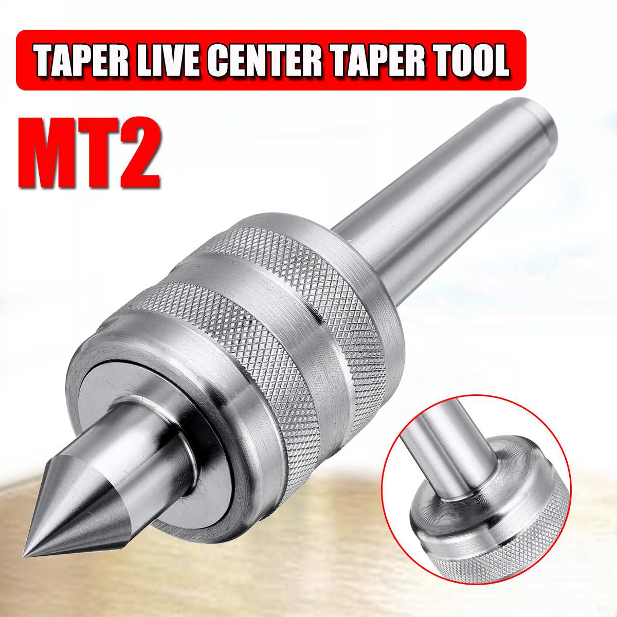 WOLIKE Accuracy Steel Silver MT2 0.001 Lathe Live Center Taper Tool Live Revolving Milling Center Taper Machine Accessories New