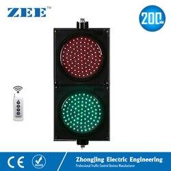 Control remoto inalámbrico 8 pulgadas 200mm LED semáforo rojo verde señales de tráfico 220V luz LED