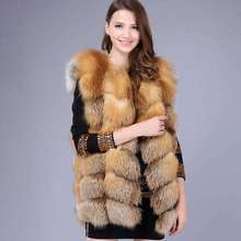 2019 ladies new natural fox fur square vest real fu