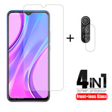 4-in-1 For Xiaomi Redmi 9 Glass For Redmi 9 Tempered Glass HD 9H Screen Protector For Note 9 S 8 T Pro Redmi 7 8 A 9 Lens Glass