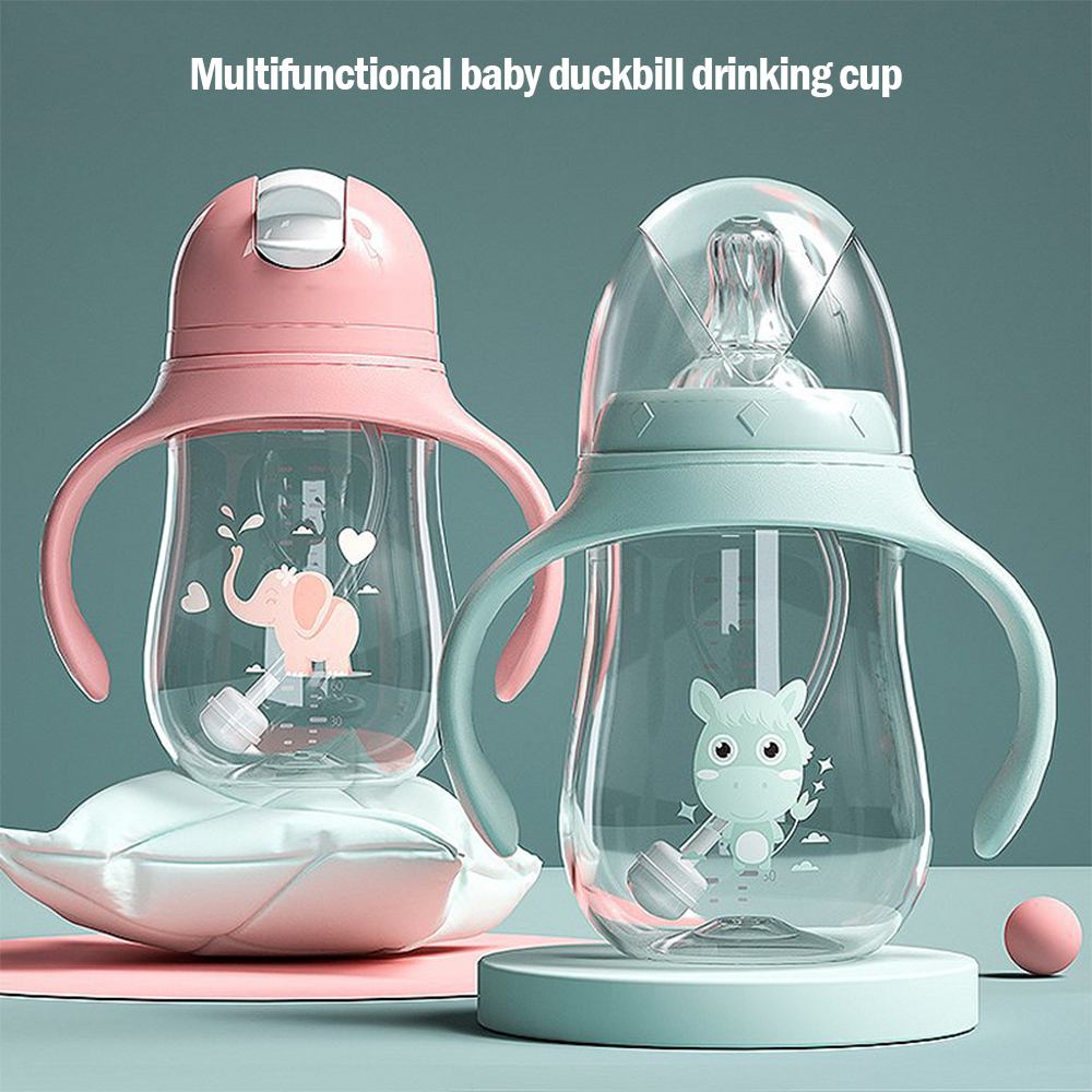 Baby Bottles Drinking-Cup Dual-Use Bpa-Free Wide Multifunctional
