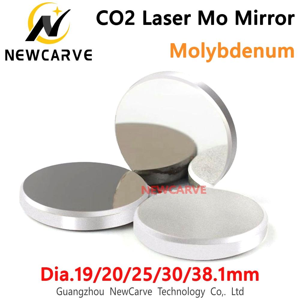 High-reflectivity Mo CO2 Laser Mirror Diameter 19/20/25/30/38.1mm 1/3pcs Molybdenum Mirror For CO2 Laser Machine NEWCARVE